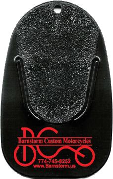 Black Kickstand Pad with Red Imprint