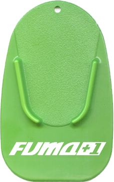 Green Kickstand Pad with White Imprint